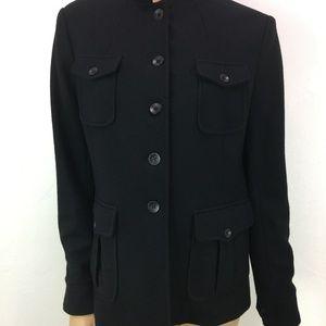 NWT Rag and Bone Black Wool Bradford Jacket 10